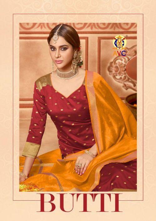 Avc Butti Designer Churidar Dress Material Wholesaler