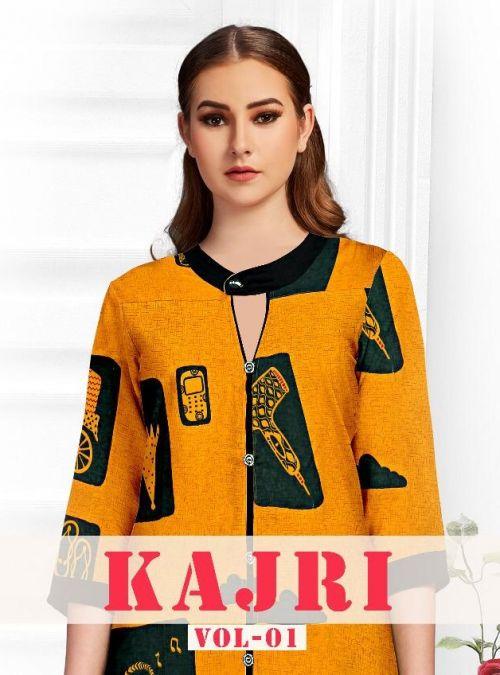 Kajri Vol 1 Printed Rayon Kurti With Plazzo Collection