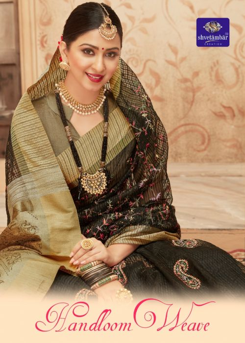 Aura Handloom Weave Orgenza Saree Collection