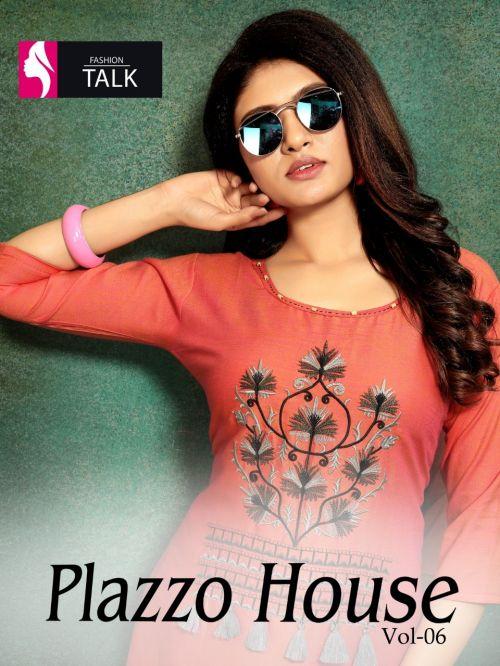 Fashion Talk Plazzo House 6 Rayon Kurti With Plazzo