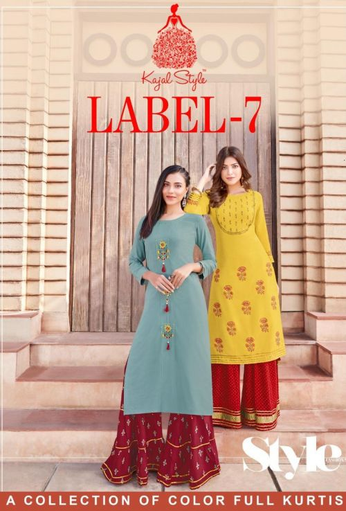 Fashion Label 7 Kurti with Flair Plazzo And Sharara Collection