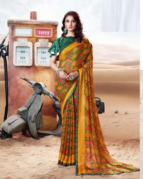 Sanskar Carvan 3 Casual Wear Brasso Printed Saree Collection