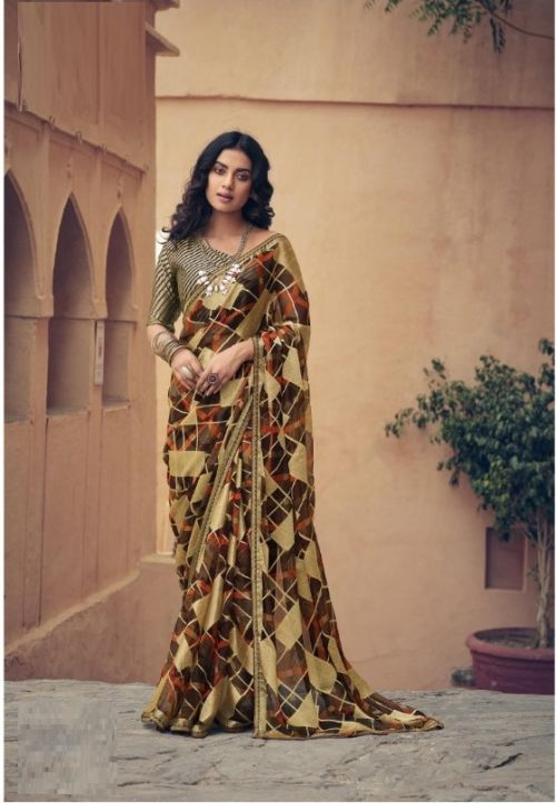 Sanskar Karigari Casual Wear Brasso Printed Saree Collection