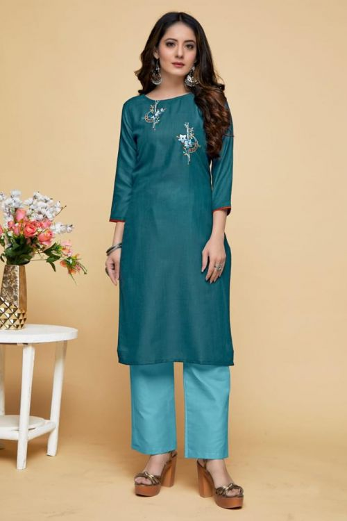 Smylee Casual Wear Embroidery Kurti Collection