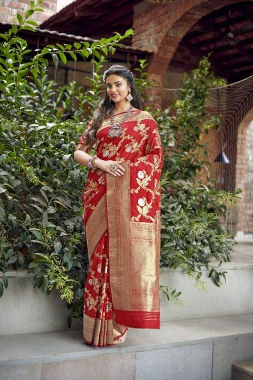 Rajyog Pooja Silk 1001 And 1004 Banarasi Silk Saree Collection