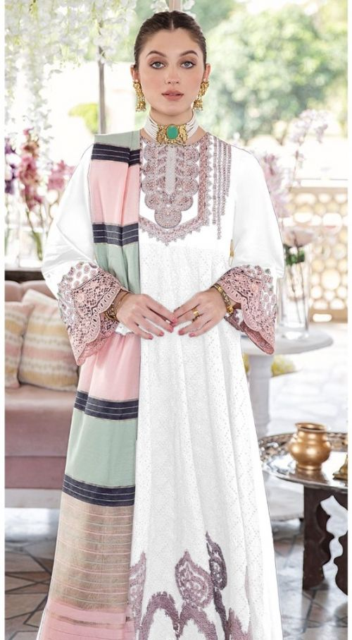 Asim Jofa 56058 Lawn Cotton Embroidery Wear Pakistani Salwar Kameez