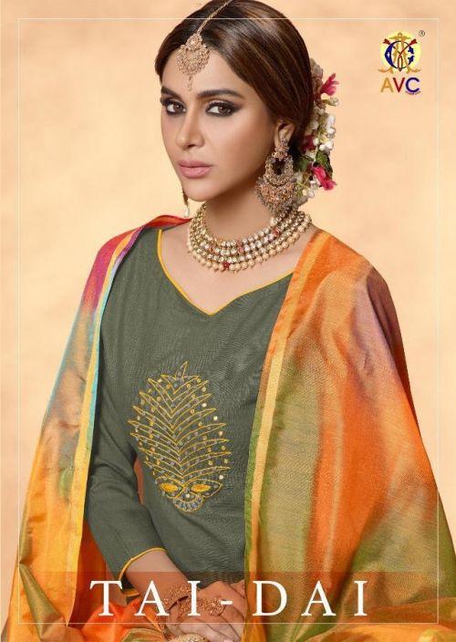Avc Tai Dai Heavy cotton designer dress material