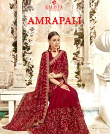 Kalista Amrapali georgette with heavy work sarees