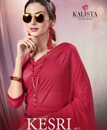 Kalista Kesri Designer Wedding Saree Collection