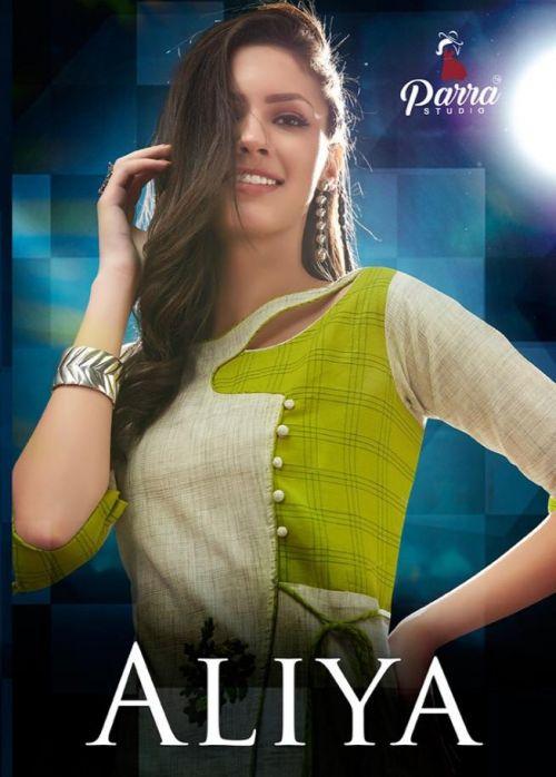 Parra Aliya Khadi Cotton Kurti With Plazzo
