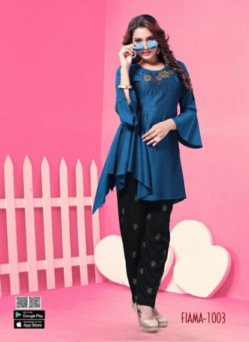 Rung Fiama Rayon Stylies Top With Bottom Collection
